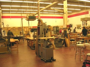 A view of the CVSW shop.